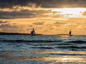 Sailing at Rosses Point in Sligo