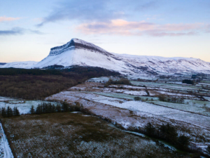 Benbulben covered in snow