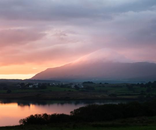 Croagh Patrick mountain in Mayo
