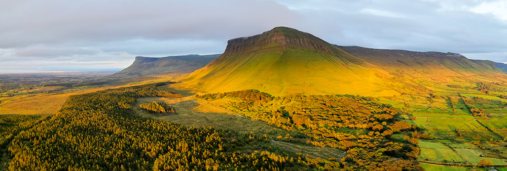 The Dartry Mountains at sunset